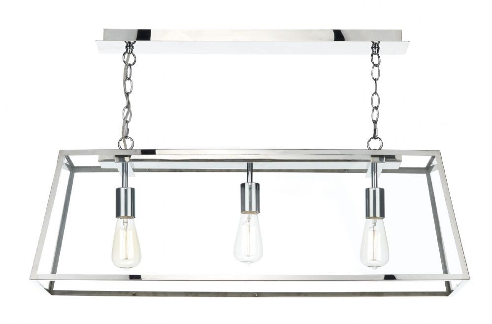 Academy 3 Light Pendant Stainless Steel (Class 2 Double Insulated) BXACA0344-17